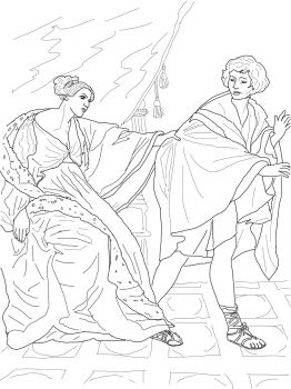 Joseph And Potiphar Bible Coloring Pages Joseph And Potiphar S