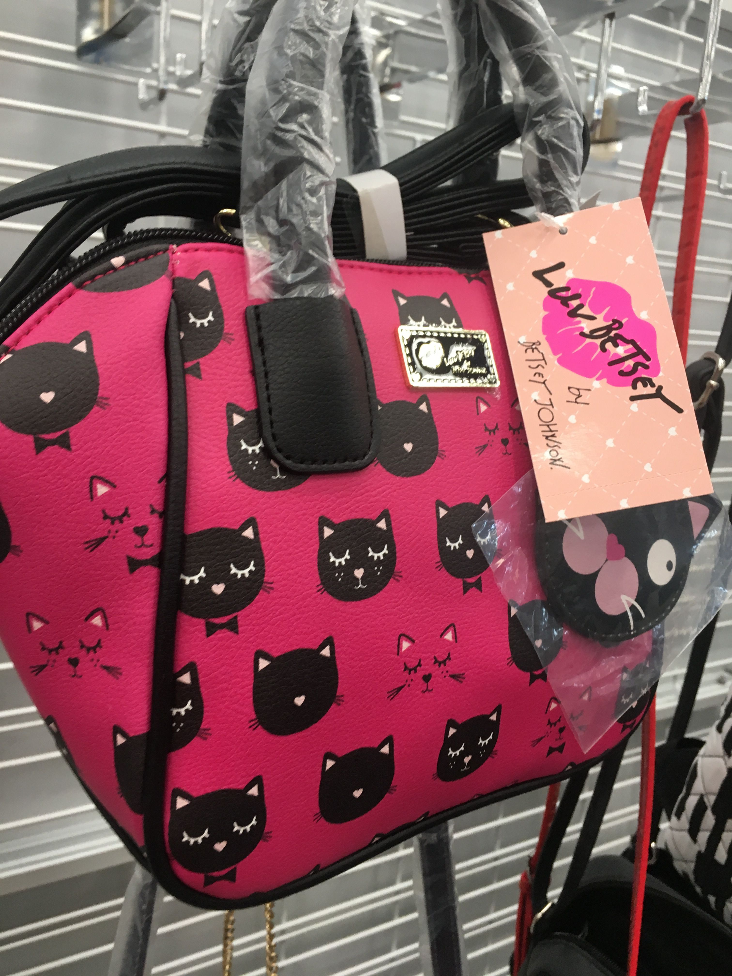 Pink Black Cat Purse Betsy Johnson Ross Pursesatross Purses
