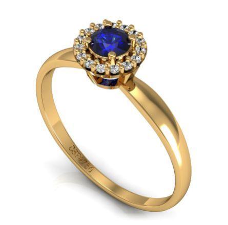 6dfb79c2fbe8f Andy – Anel Solitário Ouro Amarelo Safira e Diamantes   Jóias ...