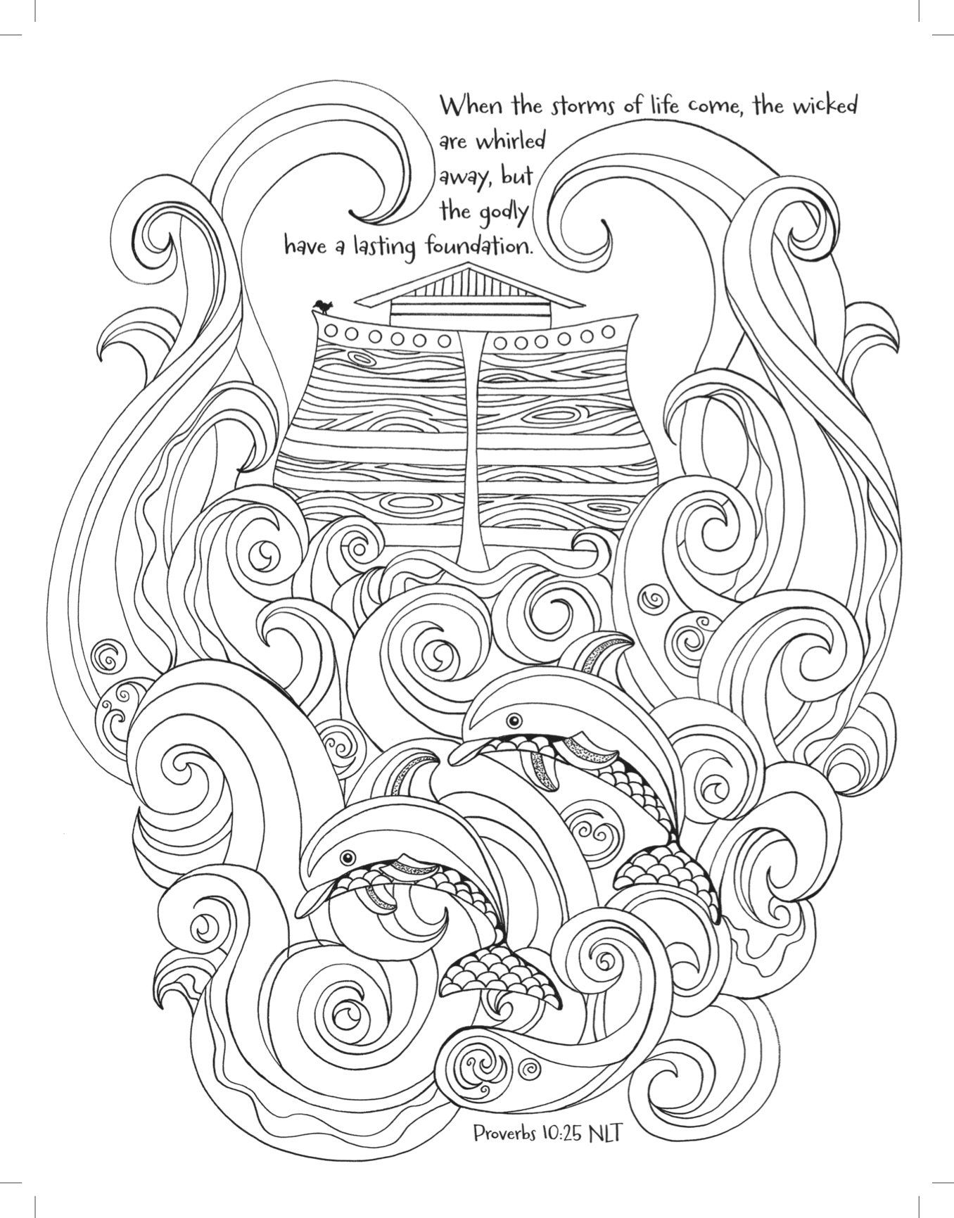 Noah S Ark Coloring The Great Flood Majestic Expressions