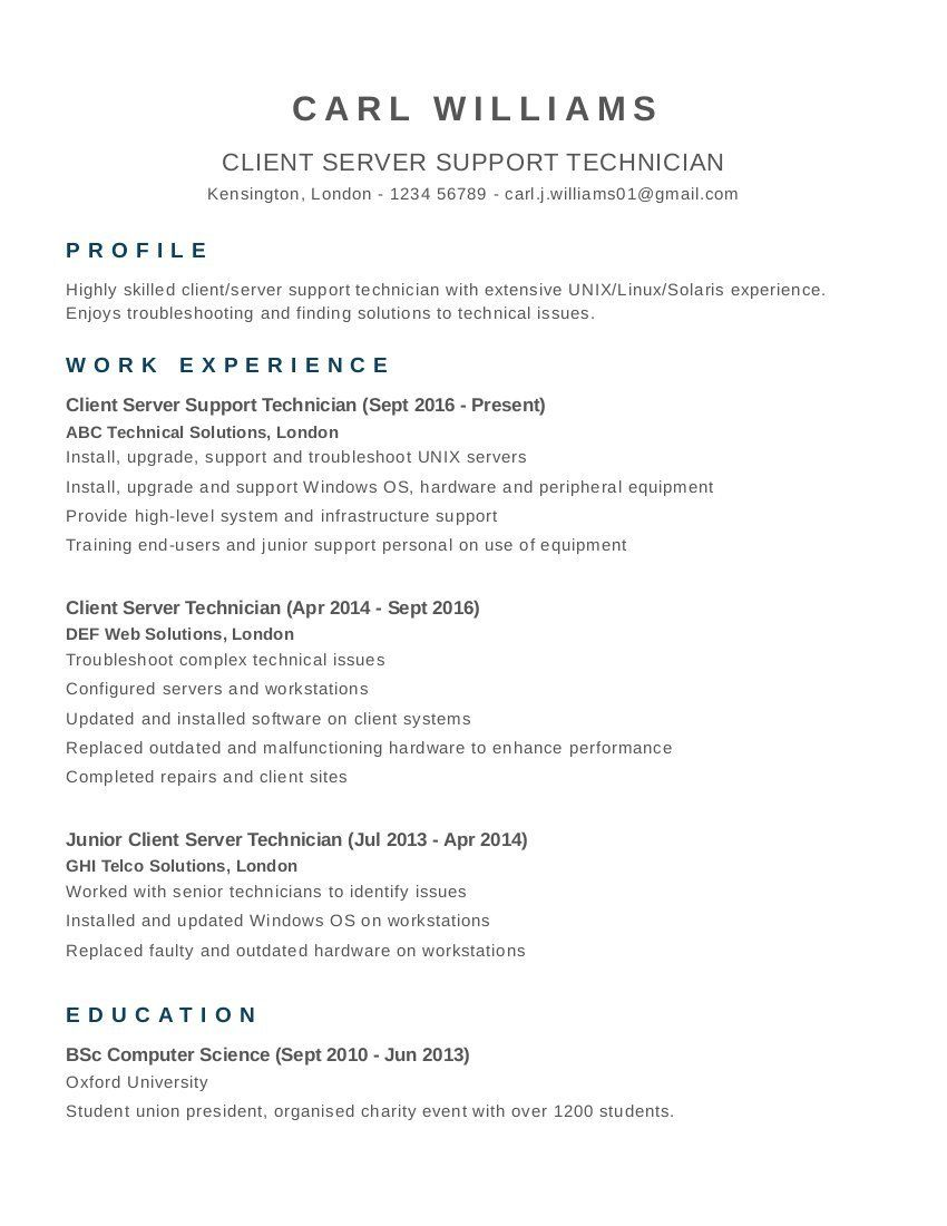 Computer Science 4 Resume Examples Sample Resume Resume Resume