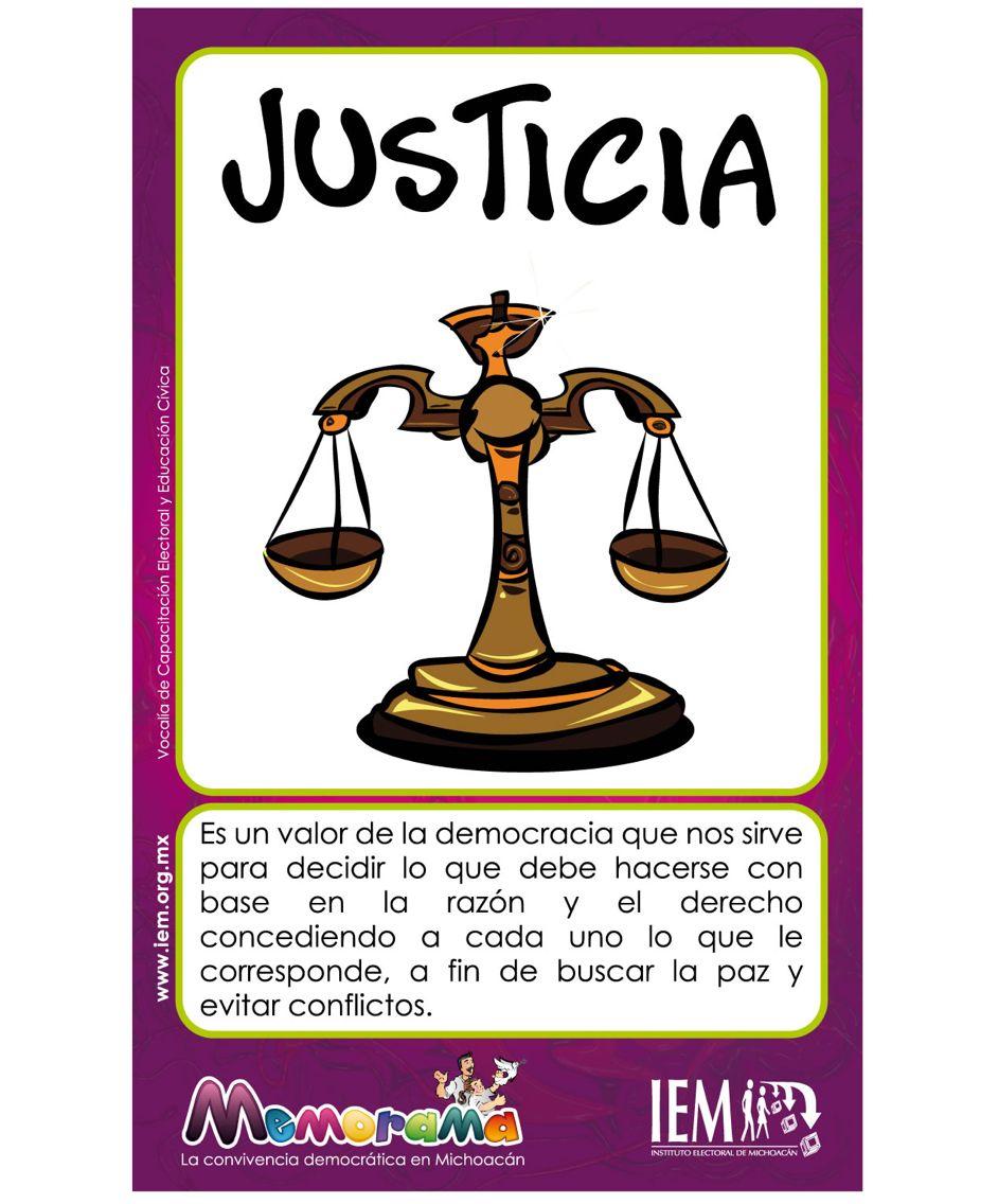 Justicia valores pinterest for Concepto de la familia para ninos