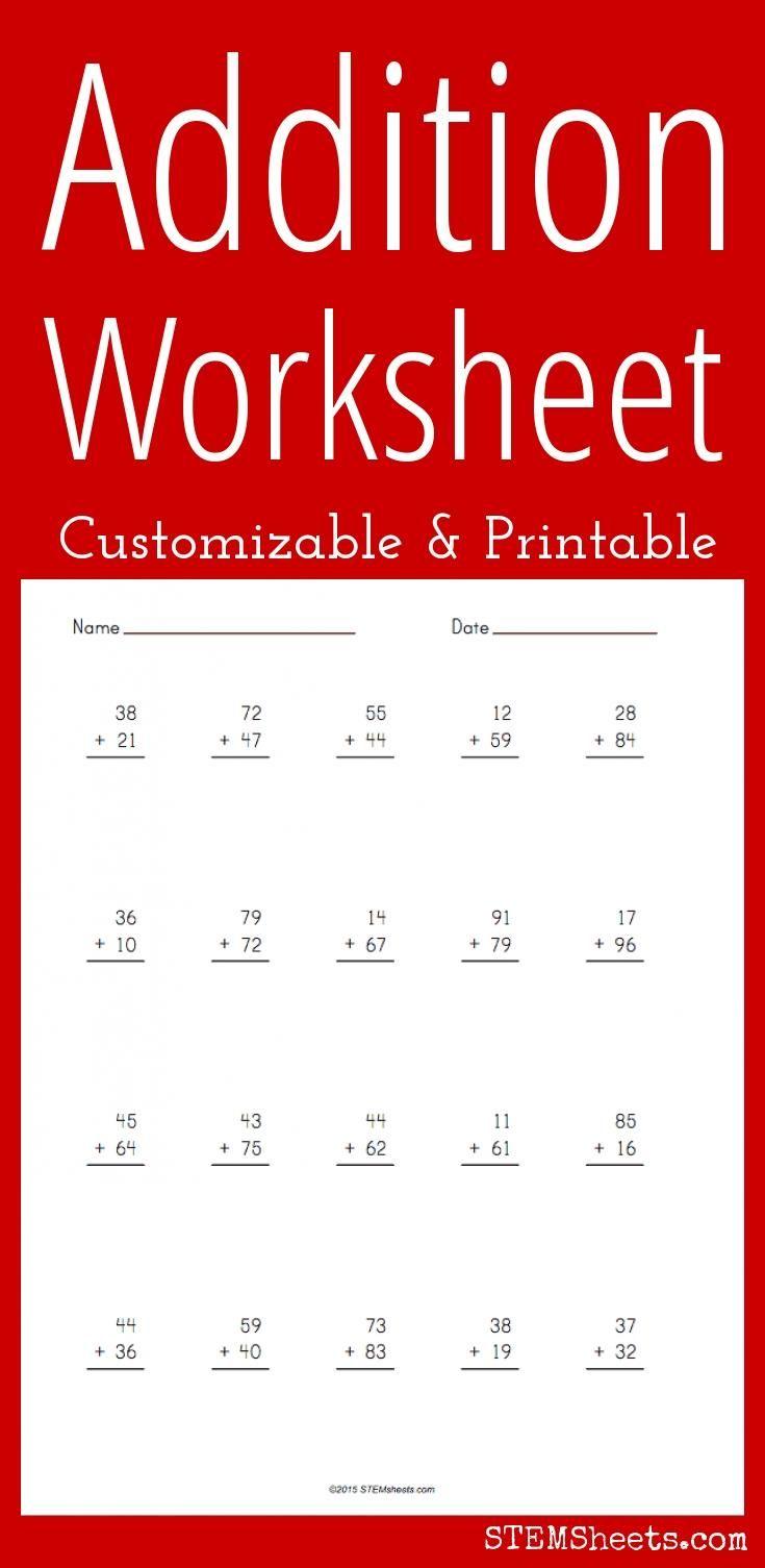 Addition Worksheet Addition Worksheets Math Tutor Worksheets