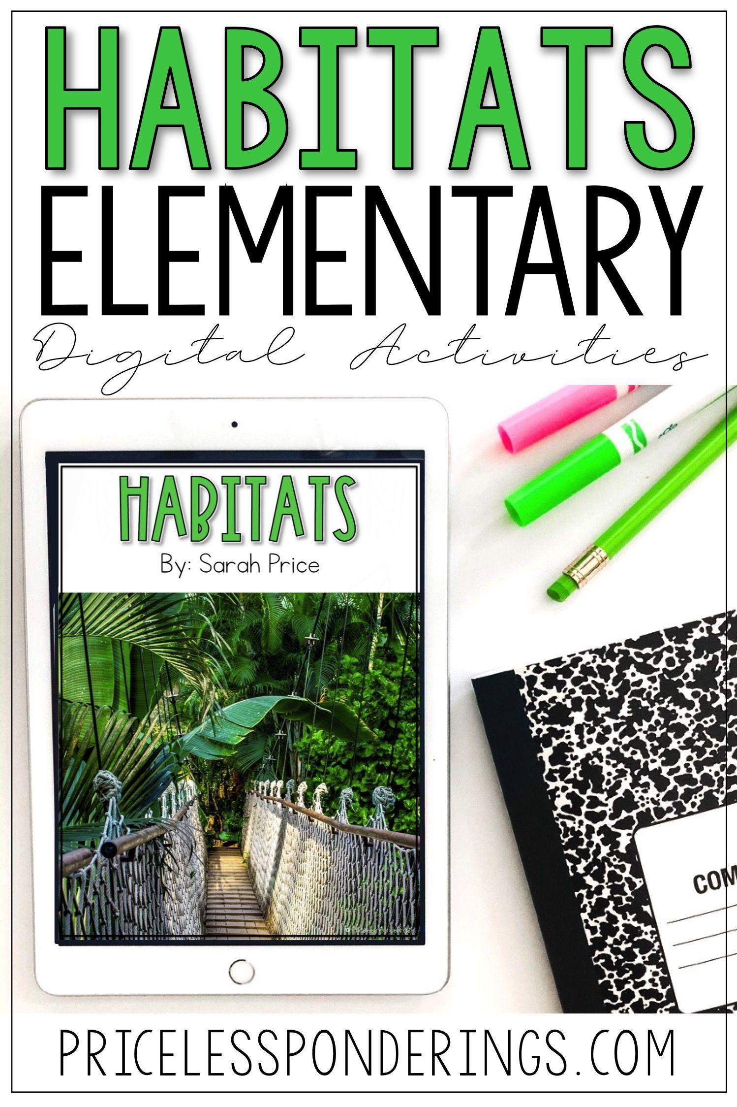 Habitats Activities For Slides