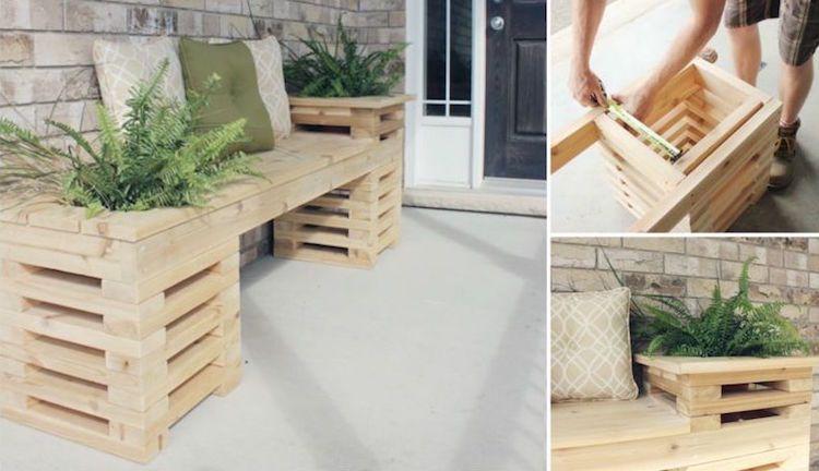 Bac à fleurs en bois à faire soi-même- plus de 52 idées DIY Design - tour a bois fait maison