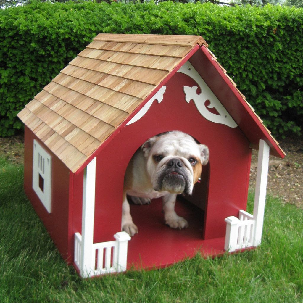 Home Bazaar Heart Medium Sized Dog House Red Mutt Huts