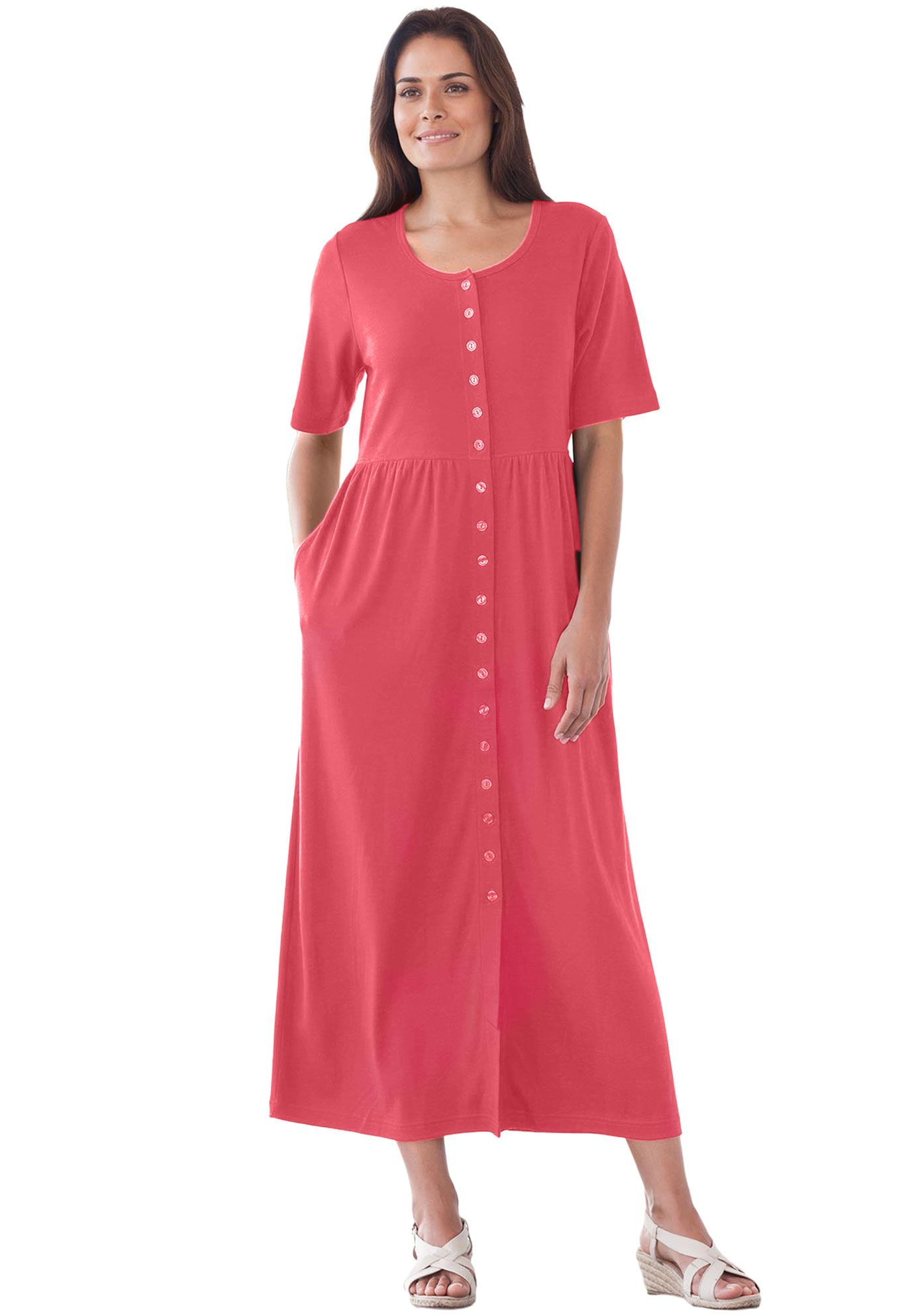 6249b17f1ea Only Necessities Petite dress with button front