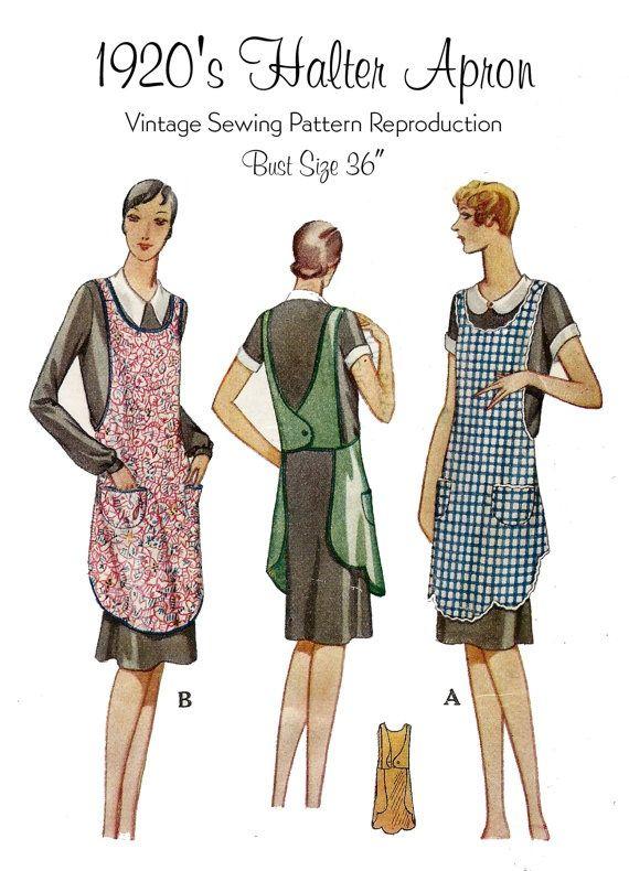 Vintage 1920\'s Apron pattern... | Costumes | Pinterest | Moda ...