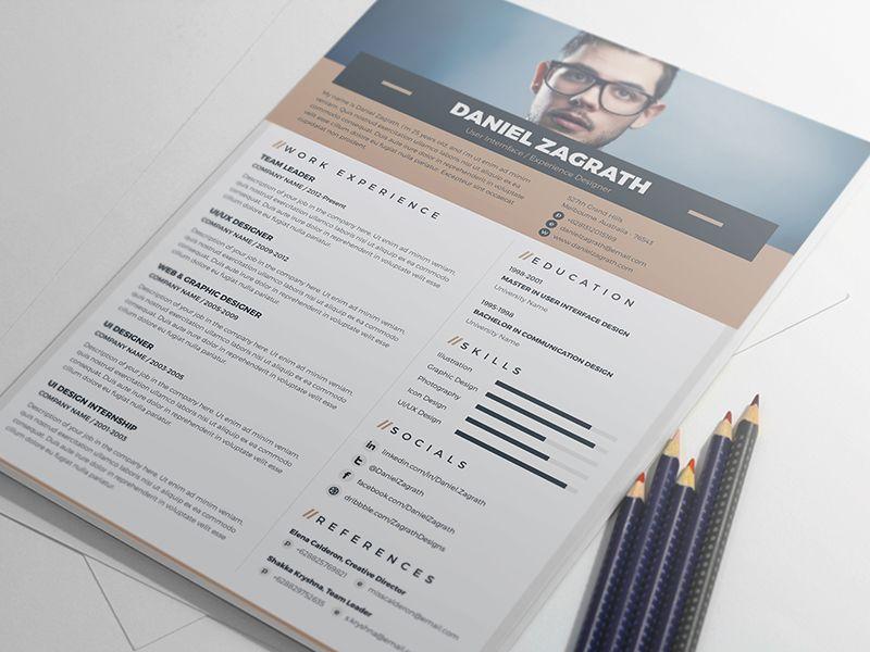 Free Resume Template For Ui Ux Web Graphic Designer Resume Ai