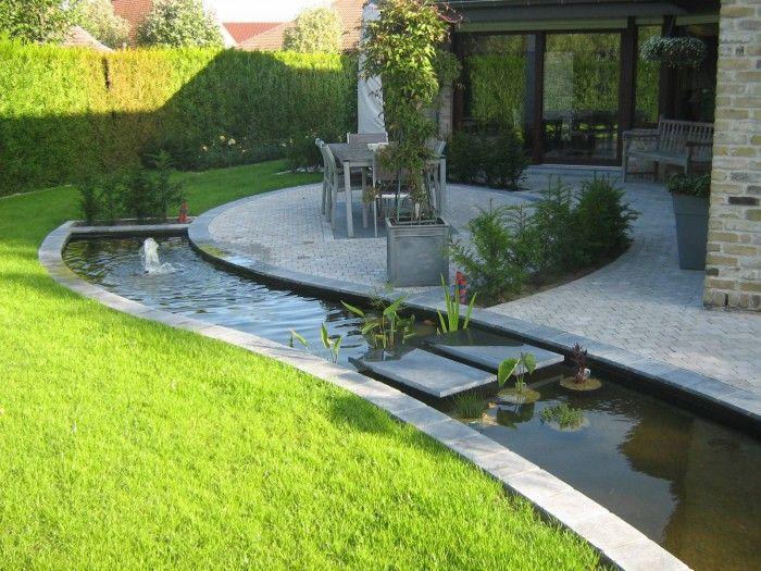 Leuke vijver aan terras buiten veranda terras patio pinterest terras vijvers en - Decoratie jardin terras ...