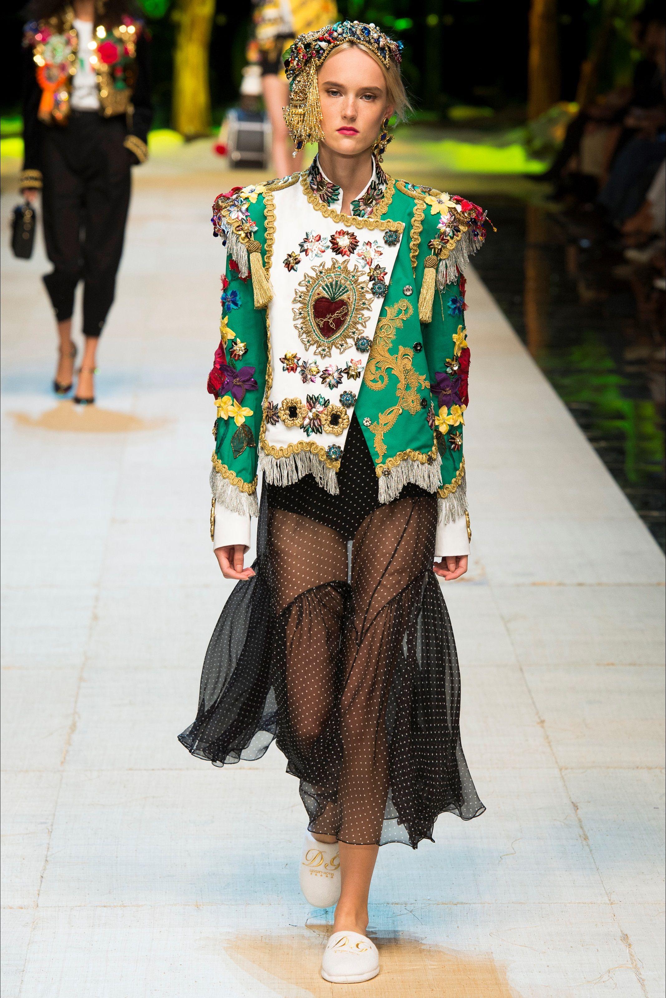 Sfilata Dolce & Gabbana Milano Collezioni Primavera Estate 2017
