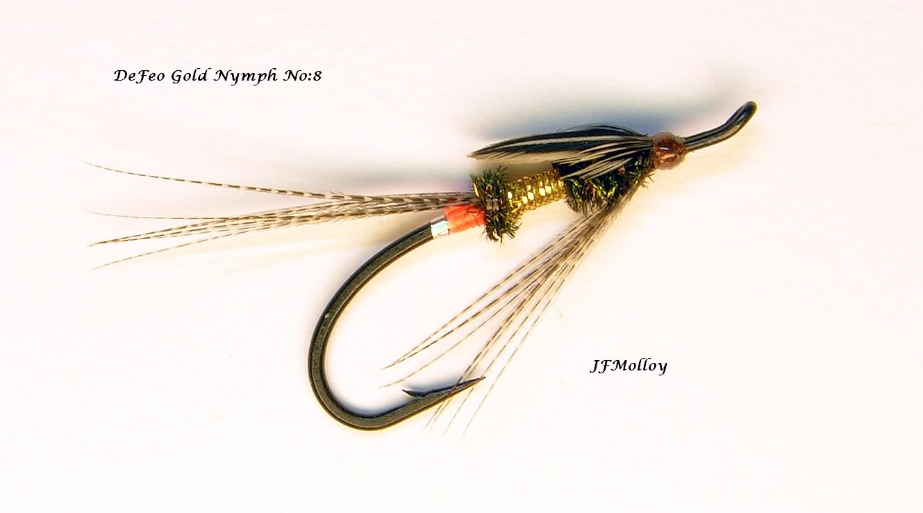 Defeo gold nymph size 8 salmon flies fly tying