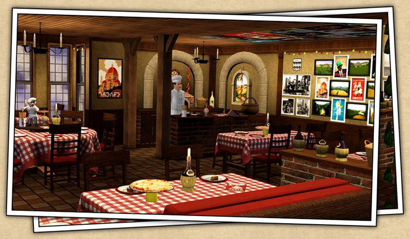 Around the sims 3 downloads objects pizzeria for Fourniture pizzeria