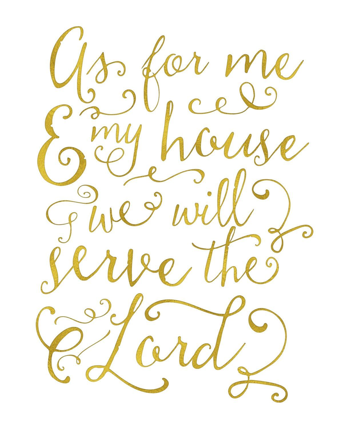 As For Me My House We Will Serve The Lord Wall Art Scripture Printable Scripture Printables Scripture Decor Bible Prints