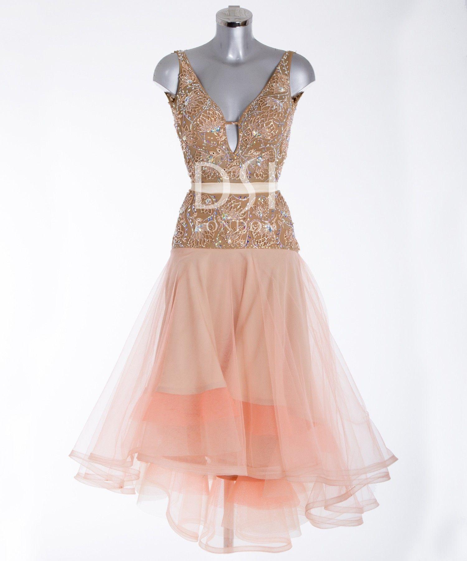 392197 Coral Latin Dress | Latin dresses for sale | Dance ...