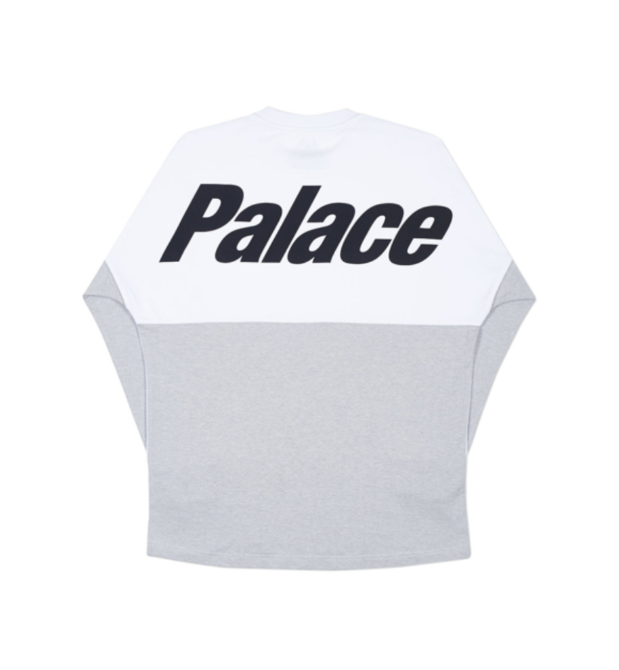 38f2d077 PALACE SPRING 2018 SPLITTER LONGSLEEVE WHITE / GREY MARL | IC | Grey ...