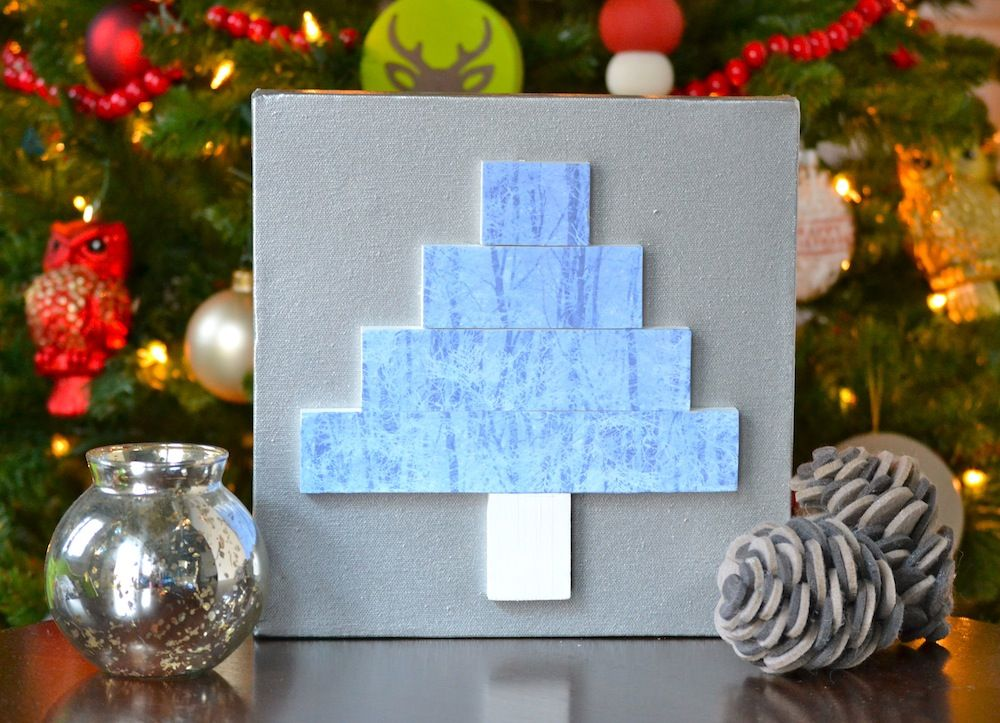 how to create a 3 dimensional tree canvas using wood slats photos and