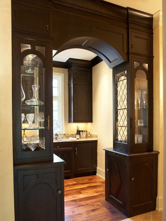 An Interesting Divider Between Spaces Could Serve As A Mini Butlers Pantry Dining Room