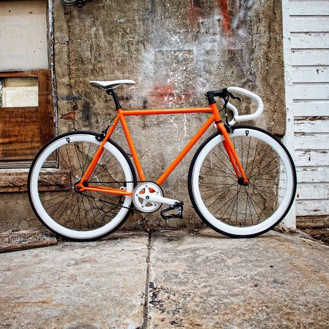 Orange And White Road Bike W Flip Flop Hub Zazzle Com Road