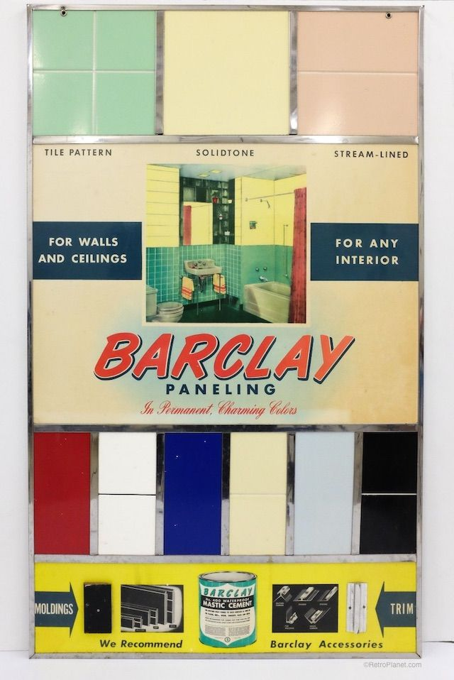 1940s Decorating Ideas: Paneling Uses And Colors