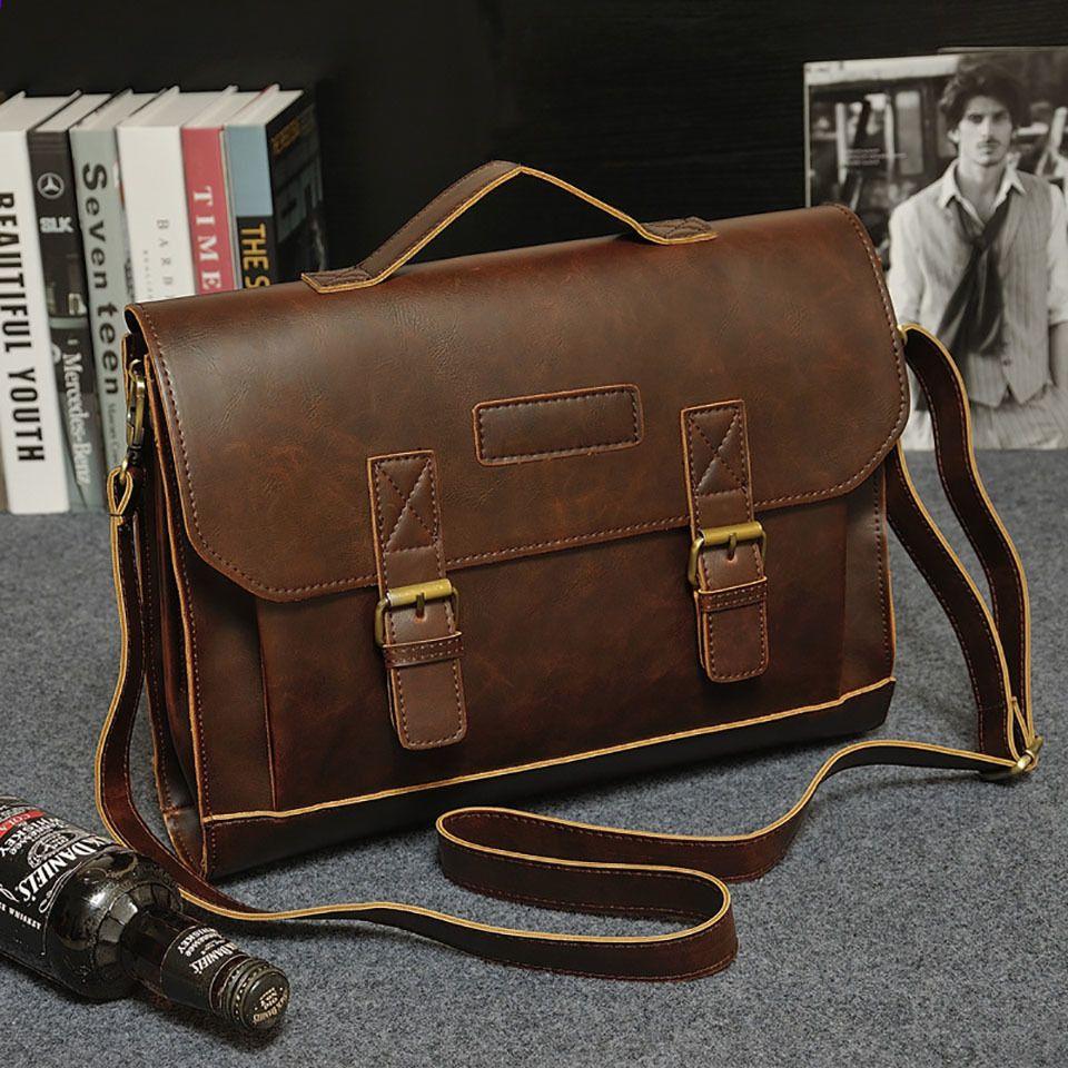 4ddddf883200 Xtrend Pánská aktovka Kožená taška na notebook PU Kožená pánská taška Muži  Messenger Ramenní tašky Pánské Crossbody Tašky Kabelky