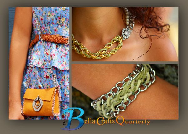 Accessories can be easy to make AND stylish TOO!  This is the fall 2013 issue of Bella Crafts Quarterly.