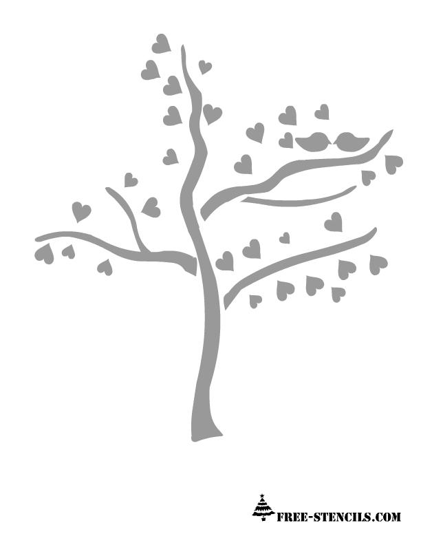 free printable love tree stencil cricut stencils free stencils