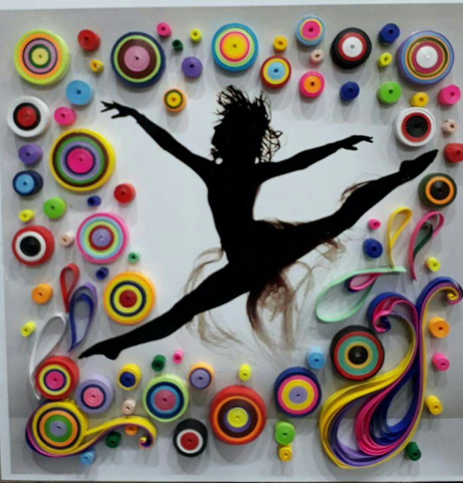 квиллинг открытки гимнастика балерины начале июня