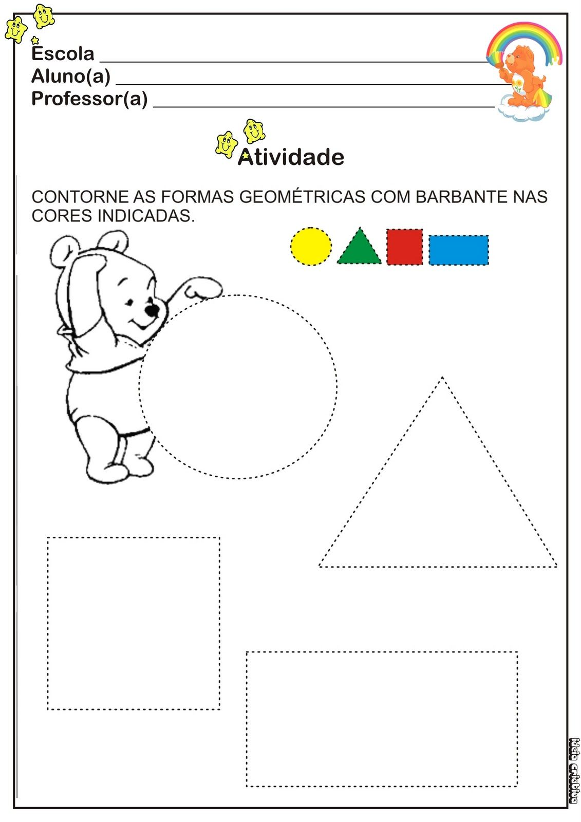 Atividade Cores E Formas Ideia Criativa Gi Barbosa Educacao