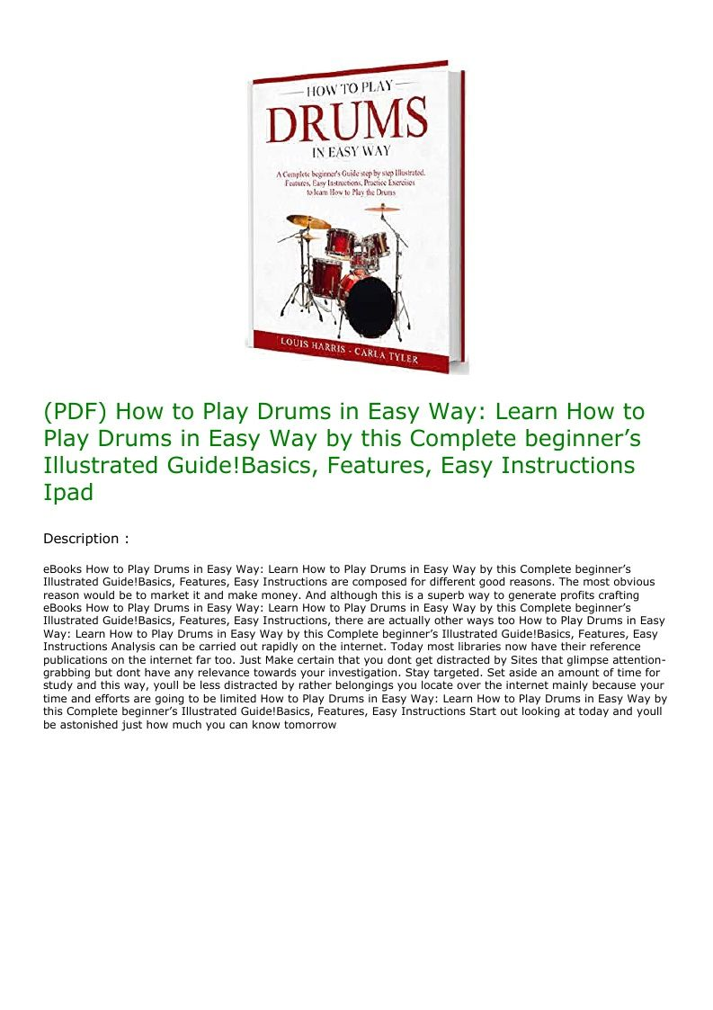 (PDF) How to Play Drums in Easy Way Learn How to Play