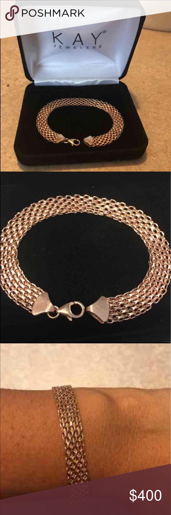 10k Rose Gold Bracelet Gold Bracelet Rose Gold Bracelet Bracelets