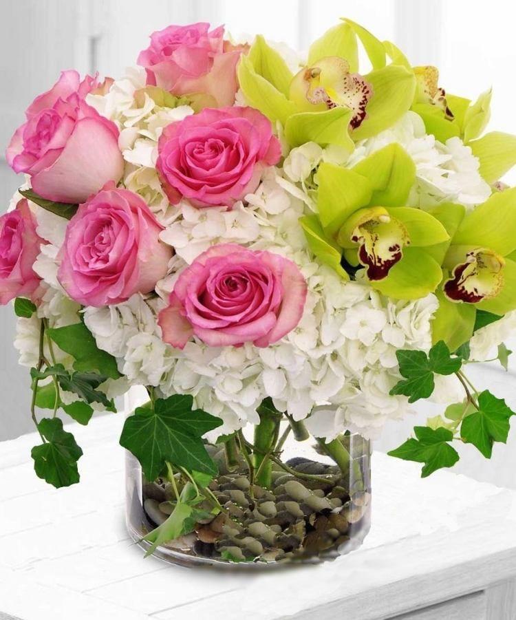 Assez Idées déco de printemps: bouquets de fleurs vases 30 photos  QX77