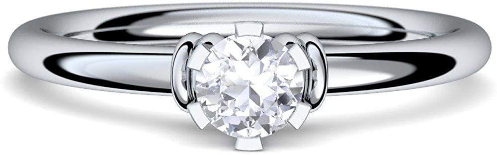 ★ Verlobungsring Antragsring 100/% 925 Silber Ring mit Zirkonia Stein ★