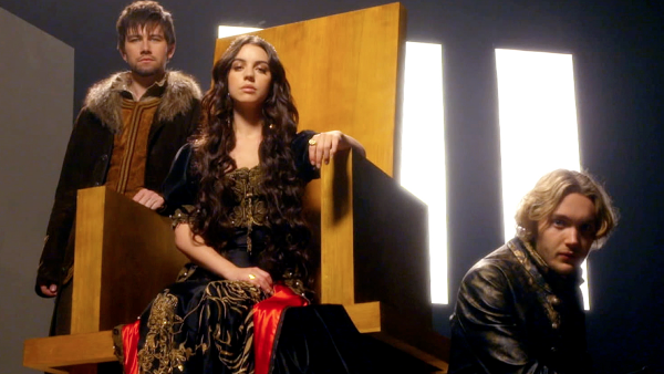 Reign - Bash (Torrance Coombs), Mary (Adelaide Kane), and Francis (Toby Regbo) #Reign #CW
