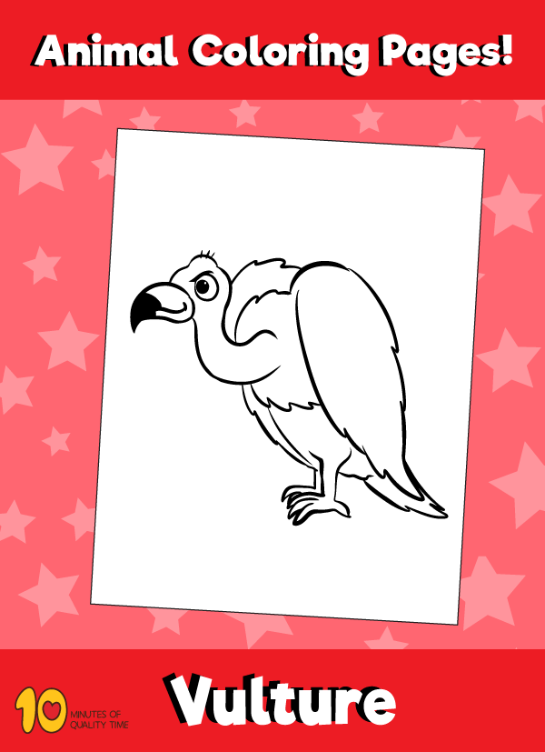 Vulture Coloring Page Animal Coloring Pages Animal Coloring