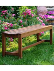 3-Person Eucalyptus Backless Bench
