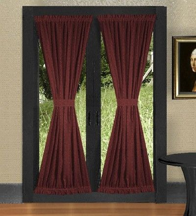 Burgundy Wine French Door Curtains French Door Curtains French Door Curtains Diy Door Curtains Diy