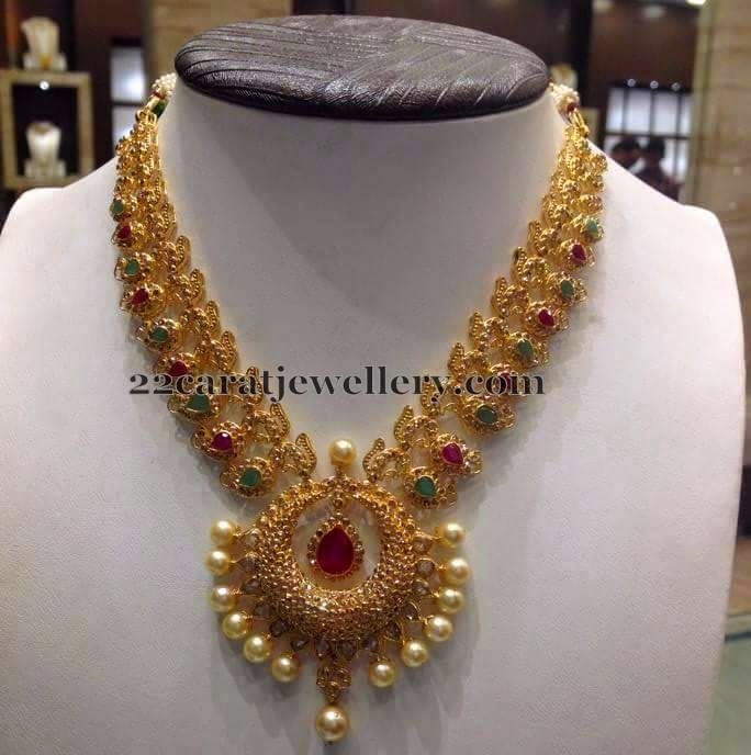 Mango Necklacein New Pattern Patterns Indian jewelry and Gold