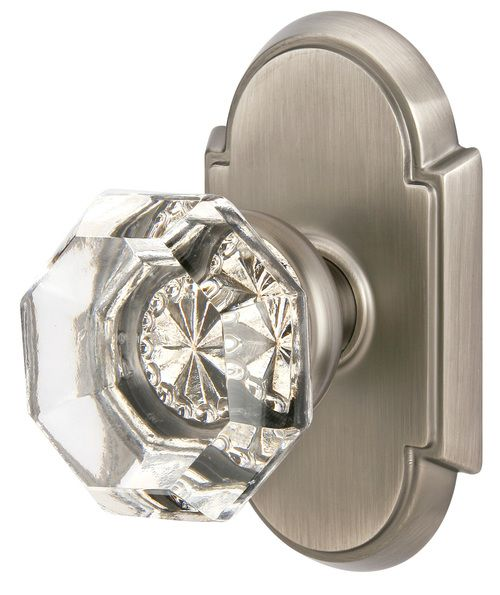 Crystal - Old Town Knob in Clear with #8 Rose in Pewter (Antique ...