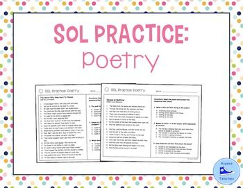 sol poetry practice worksheets sol 4 4 and 4 5 test prep worksheets comprehension. Black Bedroom Furniture Sets. Home Design Ideas