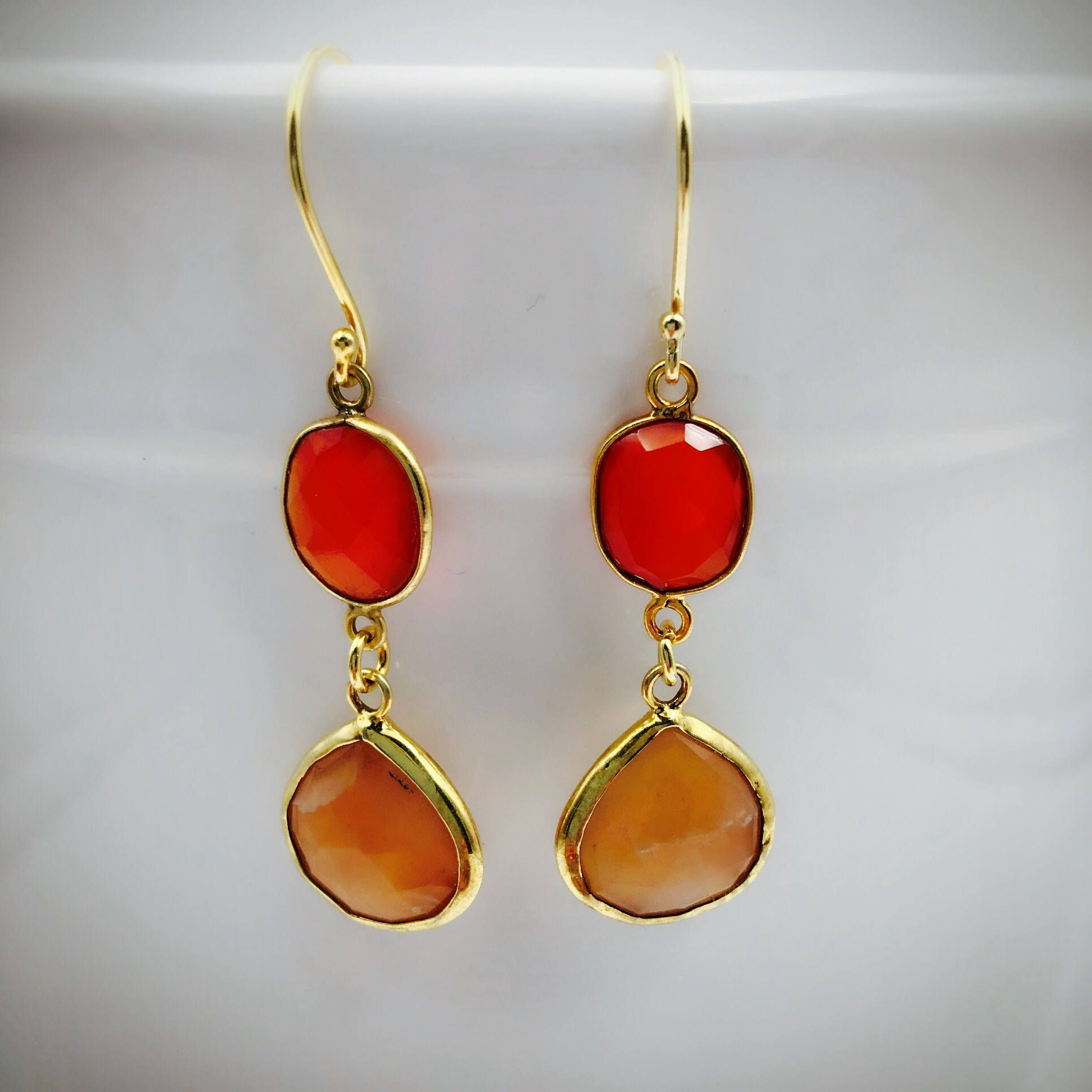 faceted carnelian product earrings cut