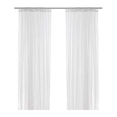Ikea Gardine details zu ikea lill gardinenschal paar 2x gardine weiß vorhang
