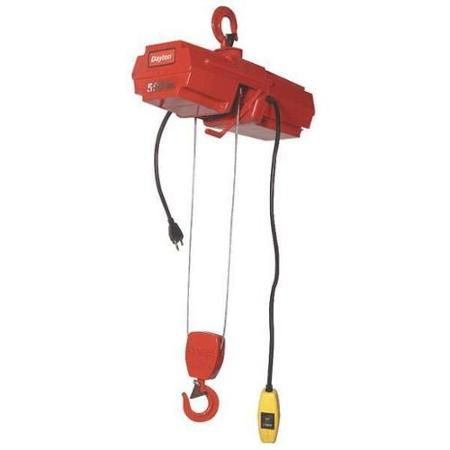 DAYTON 4GU72 Wire Rope Hoist, Single, 500 lb. - Walmart.com | Bike ...