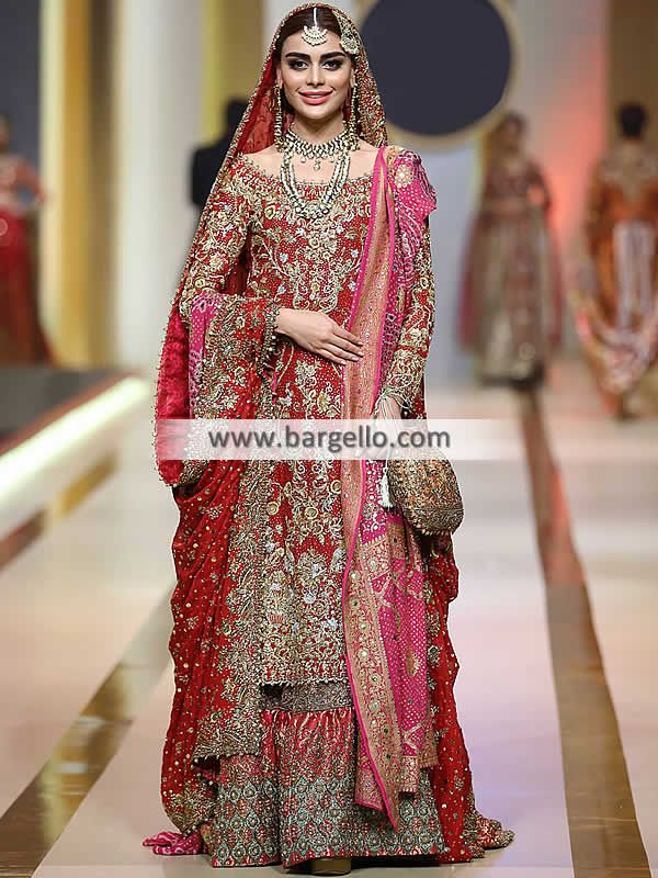 f53edd56c7 Carnelian Amorpha Gharara This bridal gharara is a classic wedding dress cho