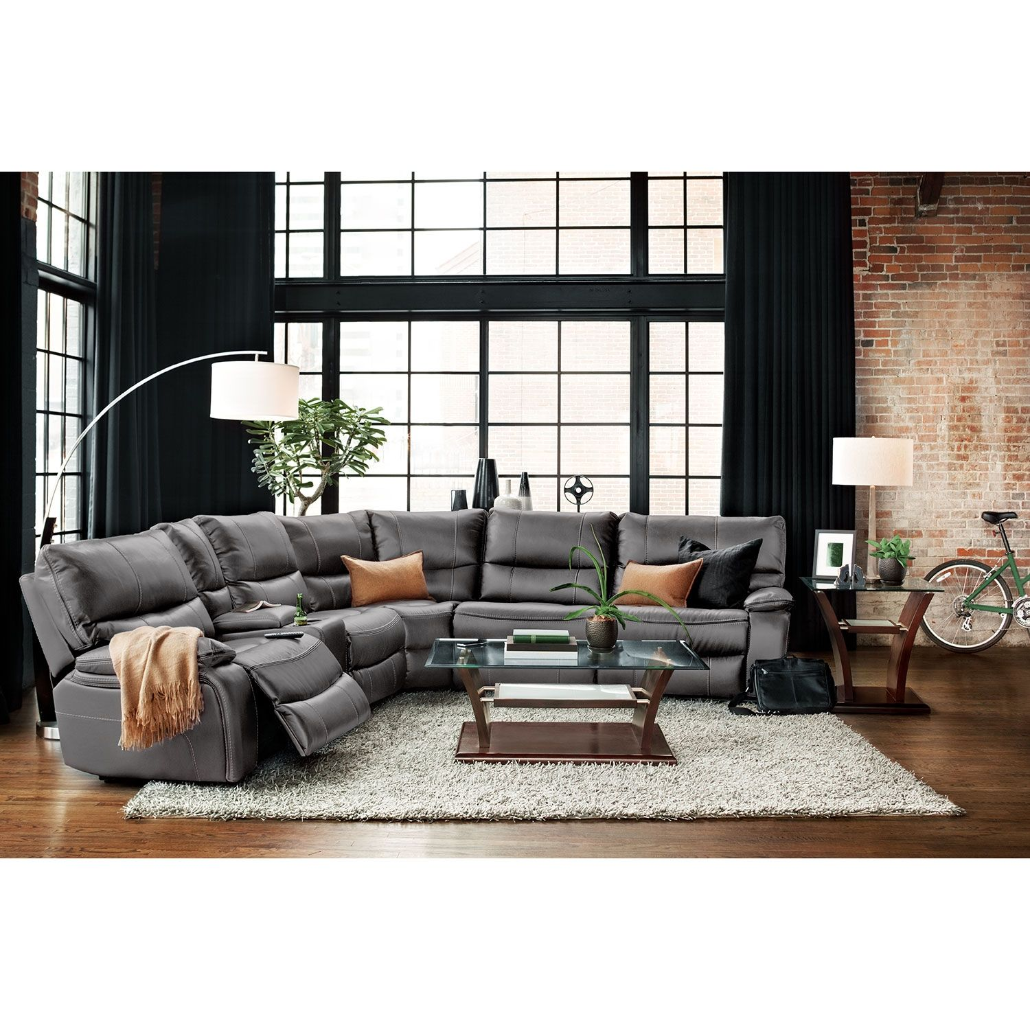 Orlando 6Piece Power Reclining Sectional with 3 Reclining