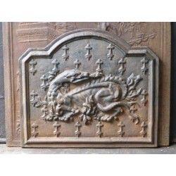 Plaque de chemin e salamandre de fran ois i vendre chez - Plaque de cheminee en fonte le bon coin ...