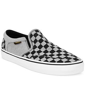aaa9415303 Vans Asher Slip-Ons Men - All Men s Shoes - Macy s