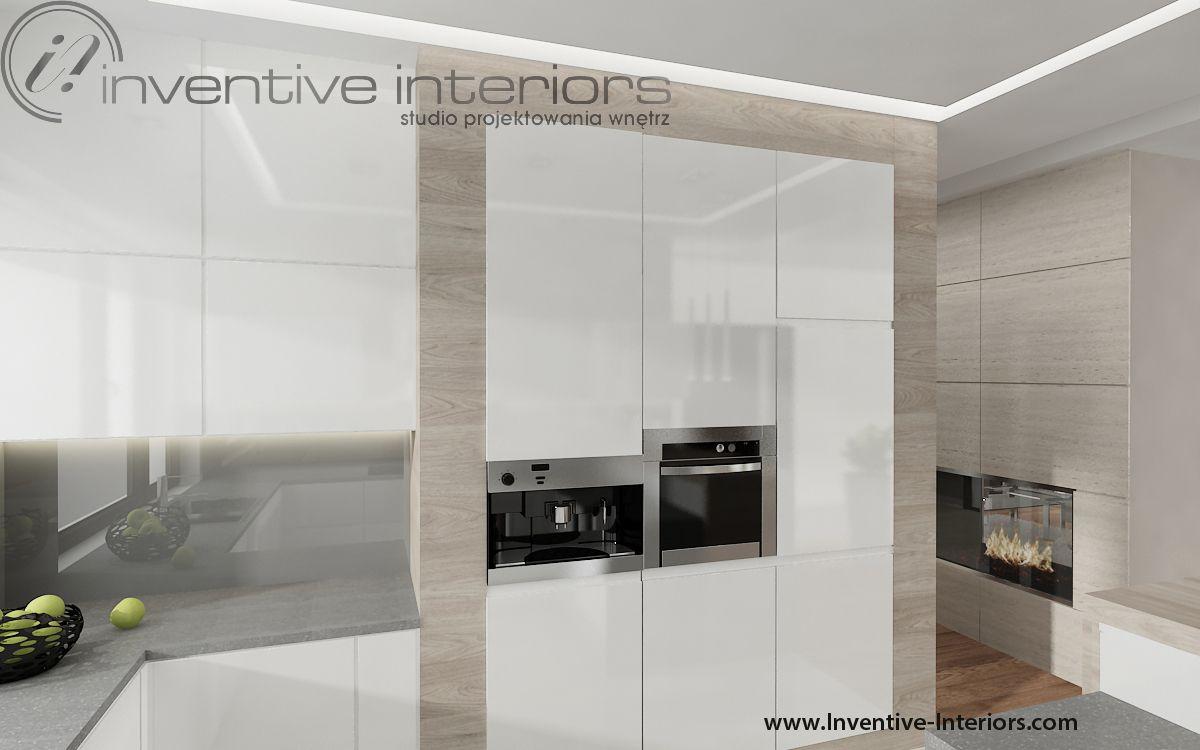 Projekt Kuchni Inventive Interiors Biala Kuchnia Z Elementami Drewna