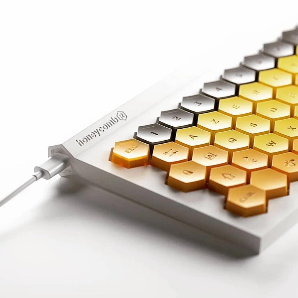 Le design de ce clavier d'ordinateur est directement inspiré du nid d'abeilles