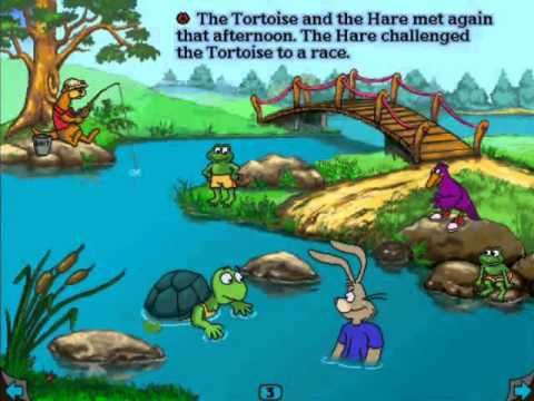 The Tortoise And The Hare Living Books Wmv Tortoise Art Videos For Kids Pet Turtle